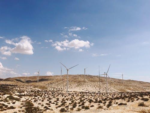 Fotos de stock gratuitas de coachella, Desierto, molino de viento, paisaje