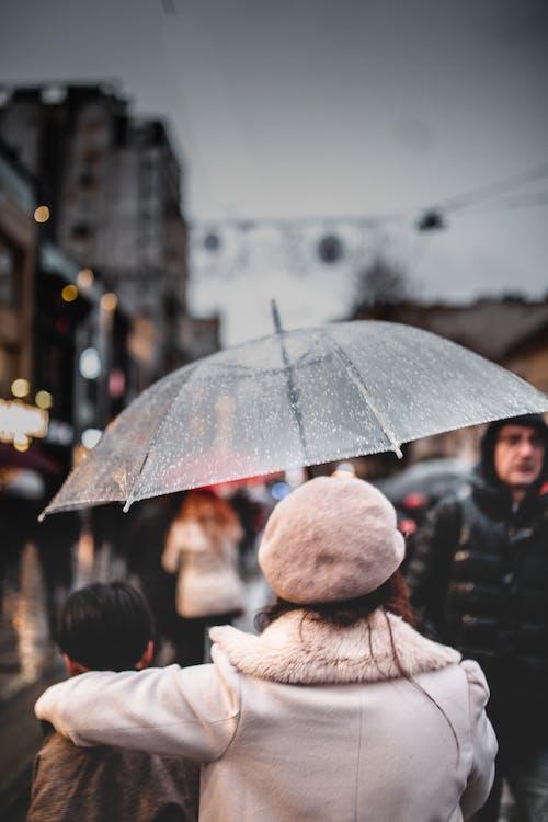 Základová fotografie zdarma na téma bokeh, déšť, deštník, Istanbul