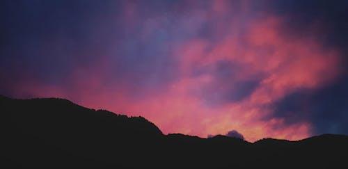 Free stock photo of evening sky, mountain, night, sunset