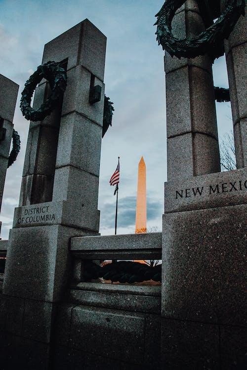 Kostenloses Stock Foto zu amerika, denkmal, flagge, monument