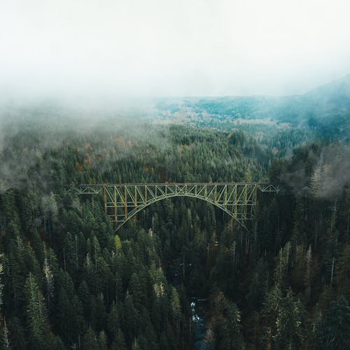Photo of Bridge Under White Clouds