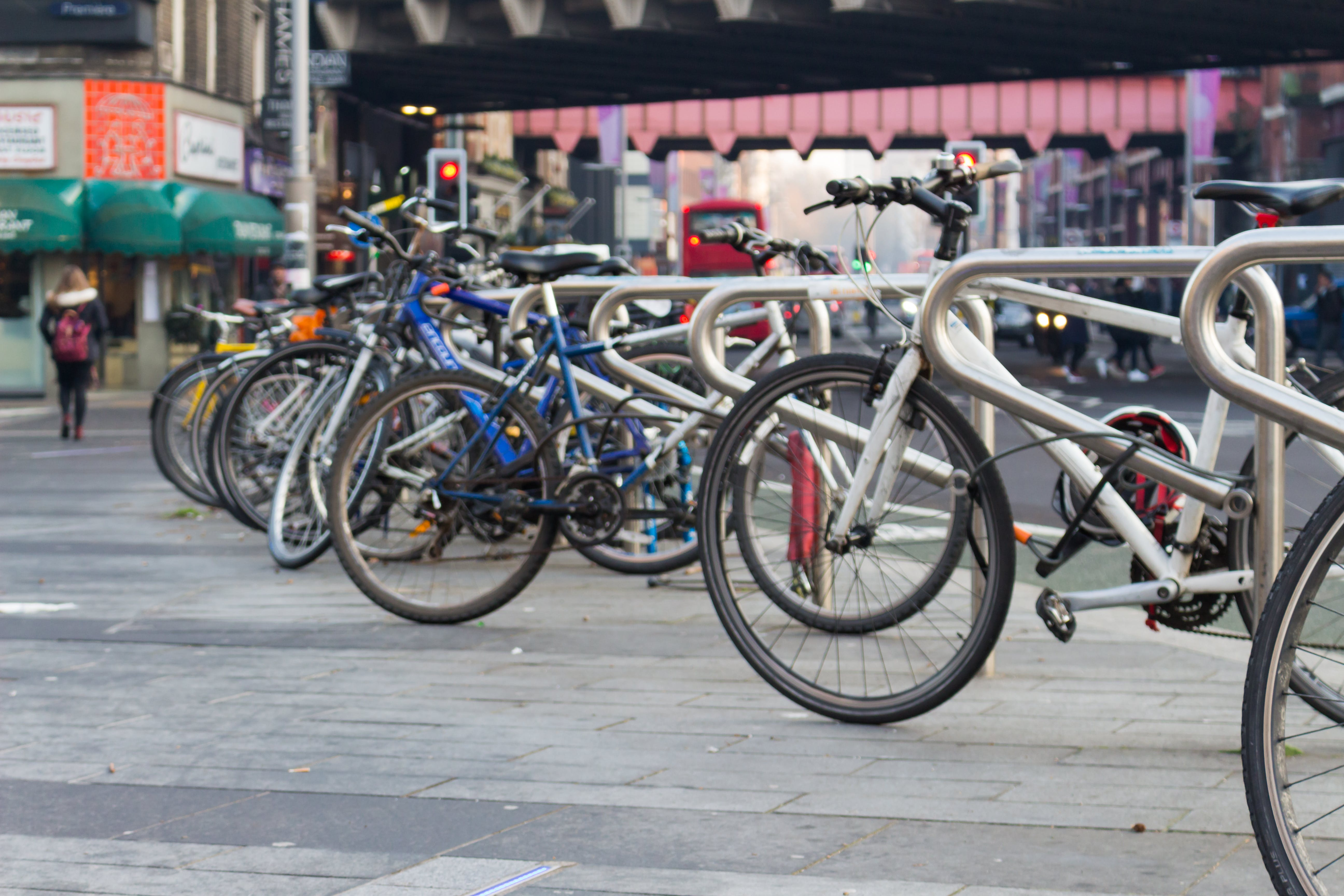 bicycle parking, bicycles, bikes