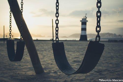 คลังภาพถ่ายฟรี ของ ชายหาด, ตะวันลับฟ้า, มินิมอล, มุมมอง
