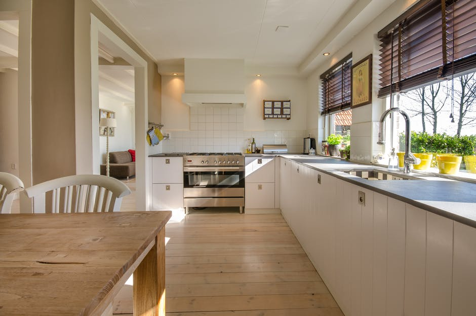 nice clean kitchen with natural lighting