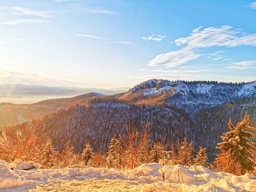 Gratis stockfoto met bergen, blauwe lucht, Roemenië, sneeuw