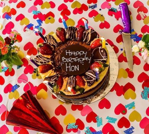 Ingyenes stockfotó boldog születésnapot, csokoládétorta, sütemények, születésnap témában