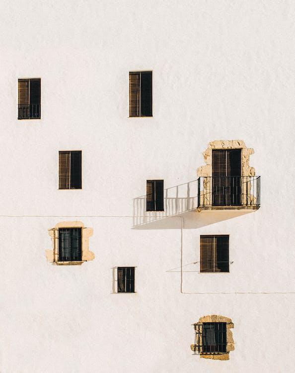 architektur, balkon, fenster