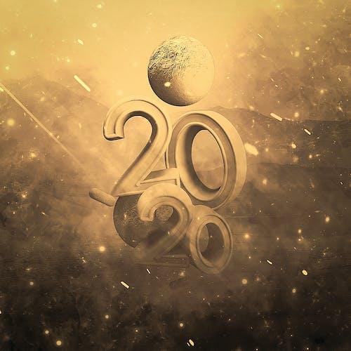 Free stock photo of 2020, 2k20, happy new year