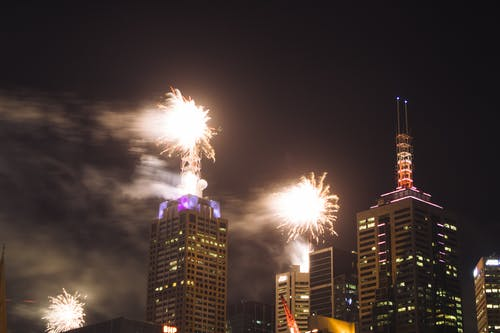 Free stock photo of 2020, fireworks, new year