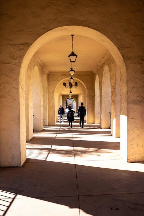 Free stock photo of balboa park, light, the corridor