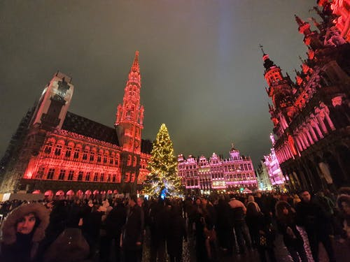 Free stock photo of Belgium, brussels, christmas, evening