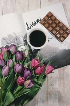 Free stock photo of wood, coffee, cup, flowers