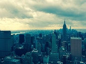 city, dawn, landmark