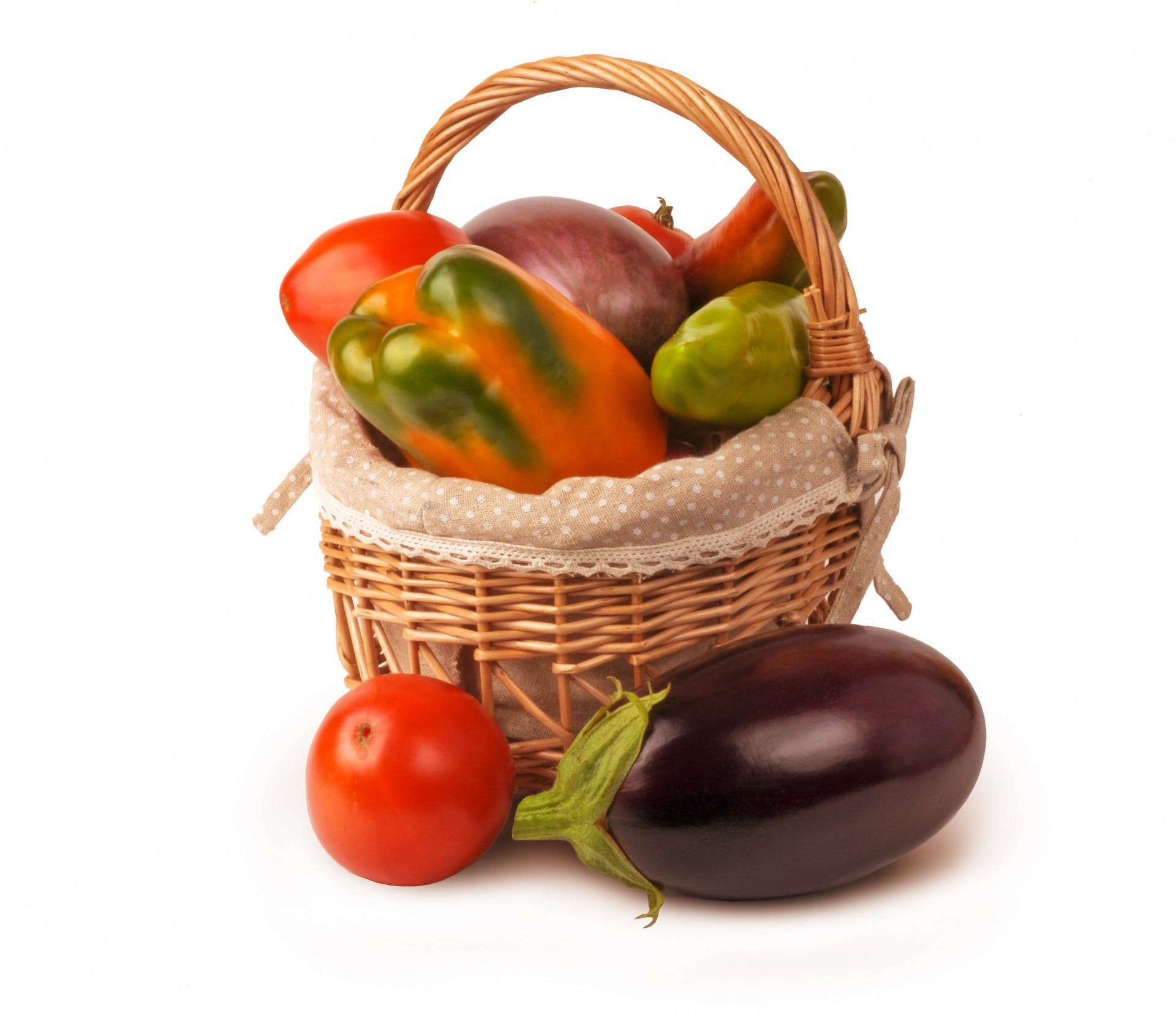 Assorted Vegetables in Basket