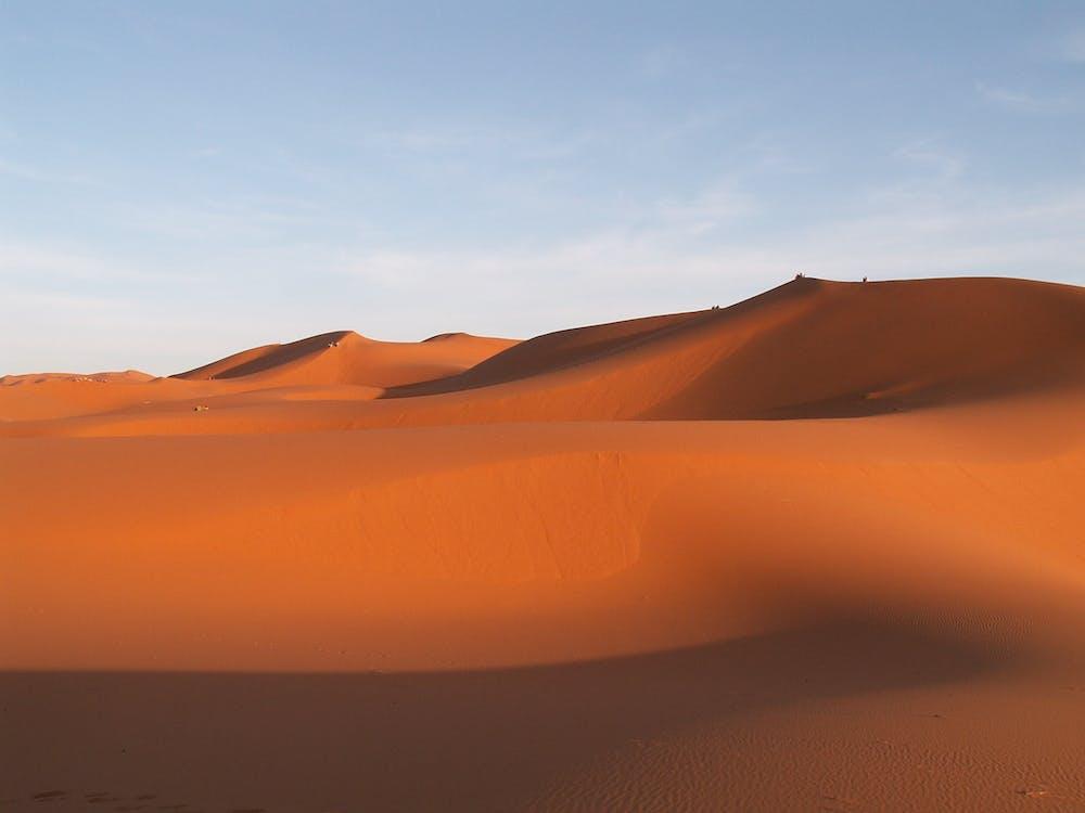 bầu trời, các đụn cát, cánh đồng cồn cát