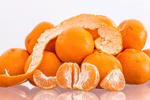 Oranges on Clear Table