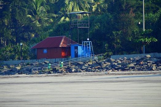 Free stock photo of beach, india, watch tower