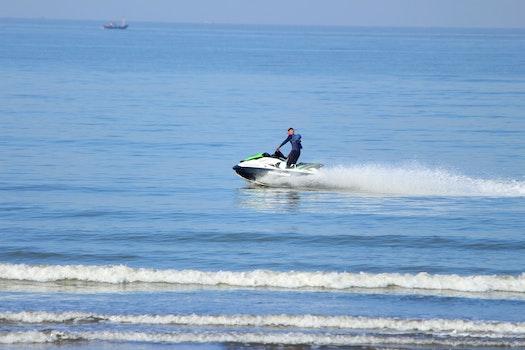Free stock photo of sea, waves, india, jet ski