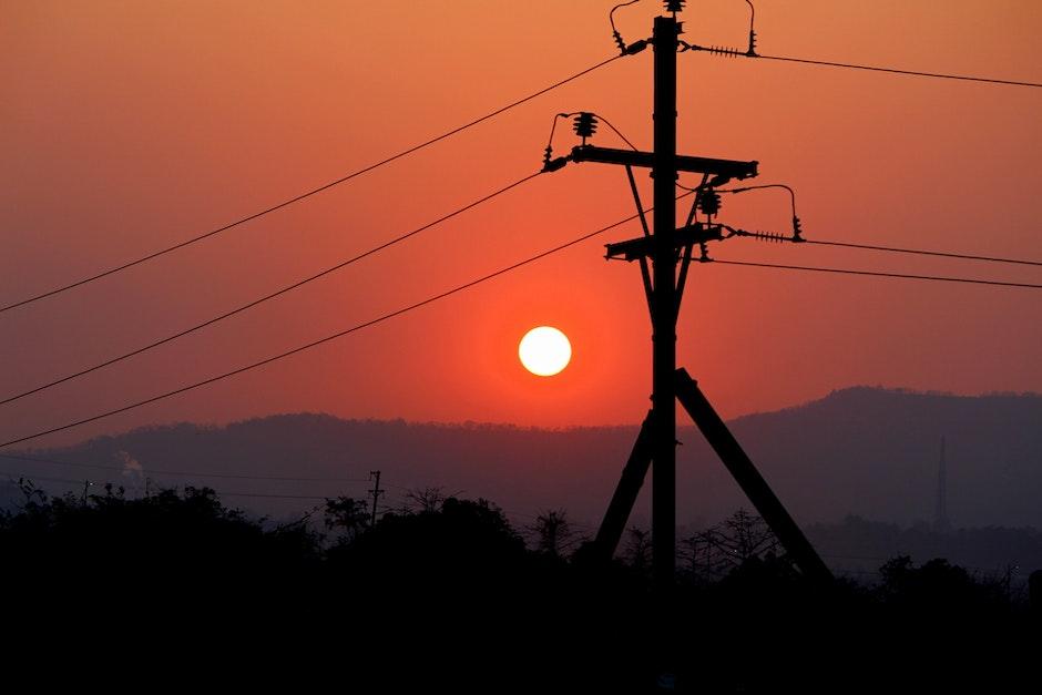 electricity poles, india, maharashtra