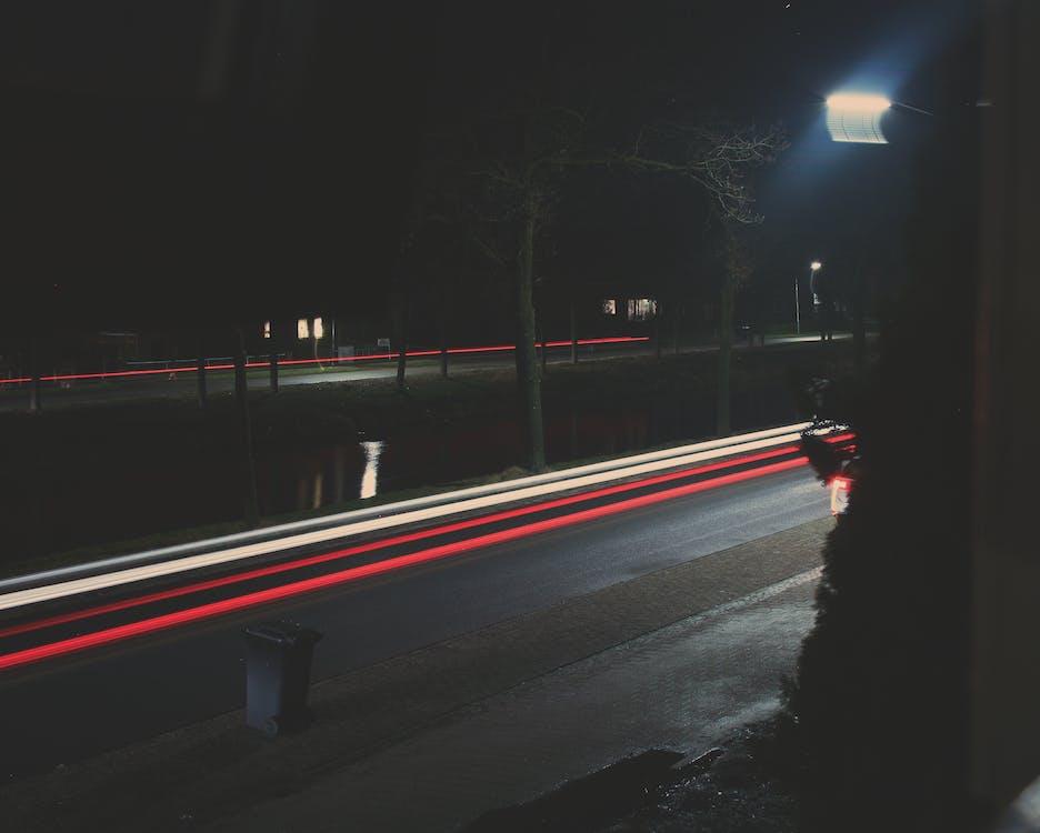 accéléré, action, autoroute