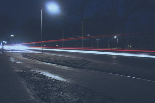 Foto stok gratis lampu mobil, long exposure