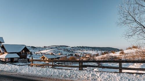 Zdjęcie Snowy Village W Dniu