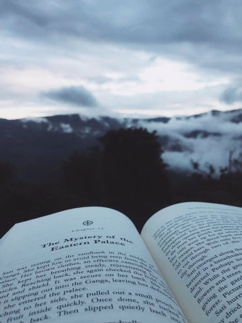 Gratis arkivbilde med #book # tåke #winter #travel #adventure #dense #woods #hills