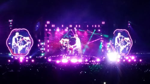 Free stock photo of coldplay, concert, crowd