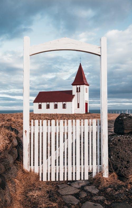 Foto stok gratis Arsitektur, awan, batu, bebatuan