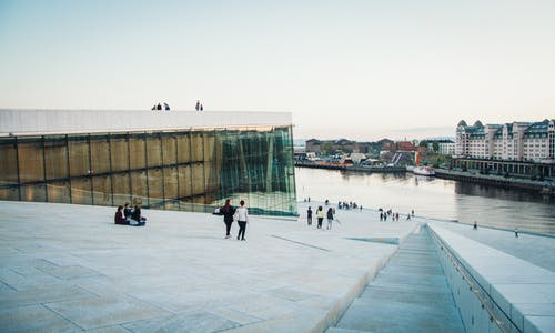 Free stock photo of architecture, opera house oslo, oslo