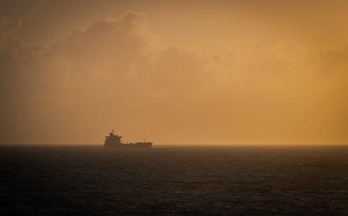 Free stock photo of ocean, orange, ship