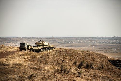 Free stock photo of golan hights, syrian border, tanks