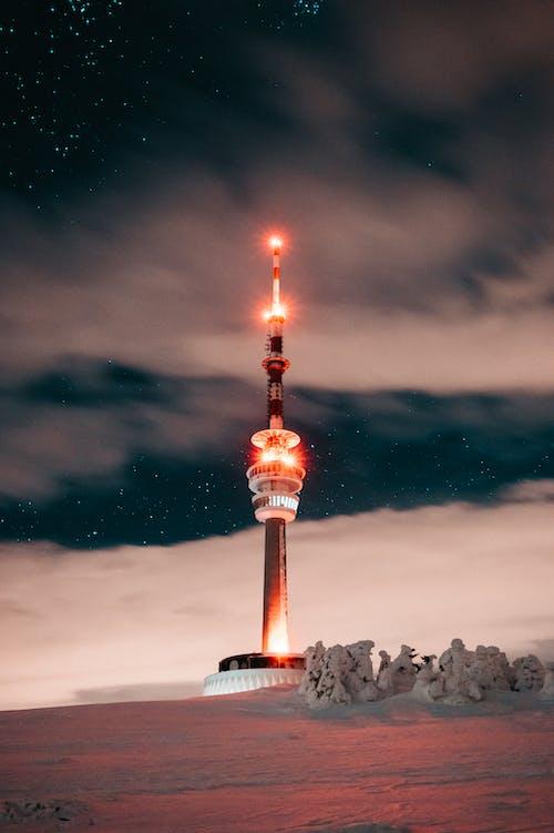 akşam, akşam karanlığı, Çek Cumhuriyeti, dar açılı çekim içeren Ücretsiz stok fotoğraf