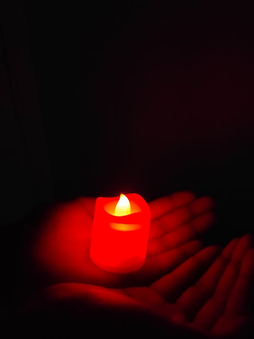 Free stock photo of candle, hand, human hand, light