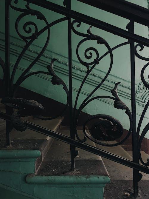Fotos de stock gratuitas de adentro, arquitectura, Arte, barandilla