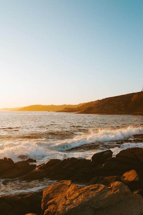 シースケープ, ビーチ, 夕方, 夕暮れの無料の写真素材