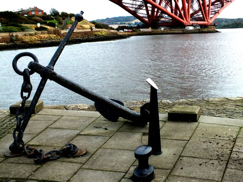 Free stock photo of Anchor on North Queensferry bay