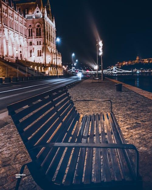 Gratis lagerfoto af bænk, Budapest, ekstremt langskud, lang eksponering