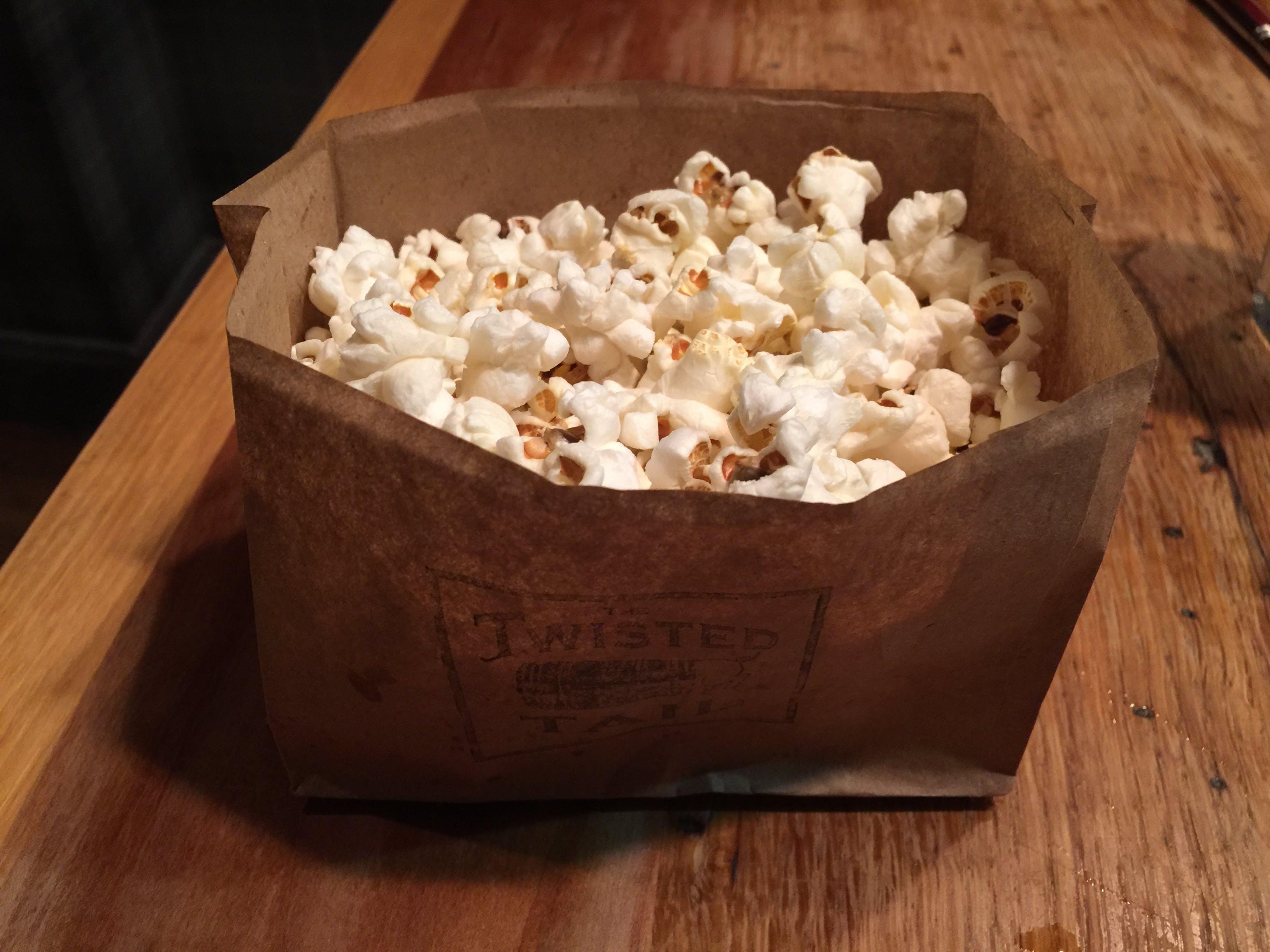 Free stock photo of paper bag, popcorn, snack