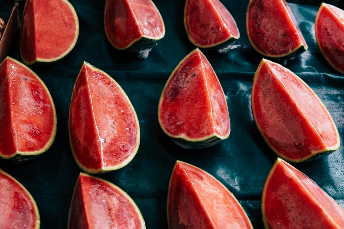 Flat-lay Photography of Slices of Red Watermelon