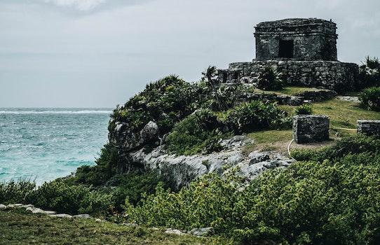 Free stock photo of sea, landscape, nature, ruins