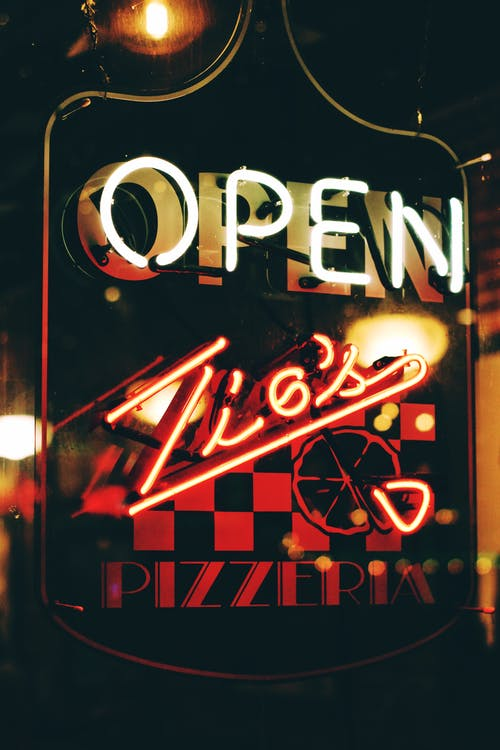 Open Neon Light Signage