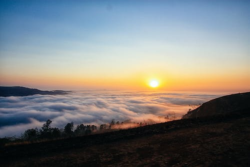 คลังภาพถ่ายฟรี ของ ขอบฟ้า, พระอาทิตย์ขึ้น, พระอาทิตย์ยามเช้า, ภูมิทัศน์