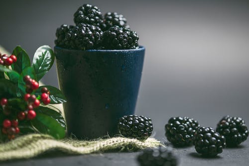 Round Black Fruits