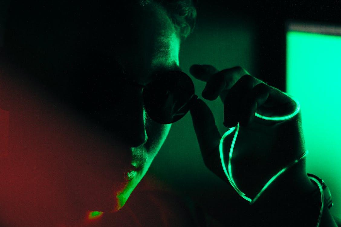 20-25 ans homme, homme, lumière laser