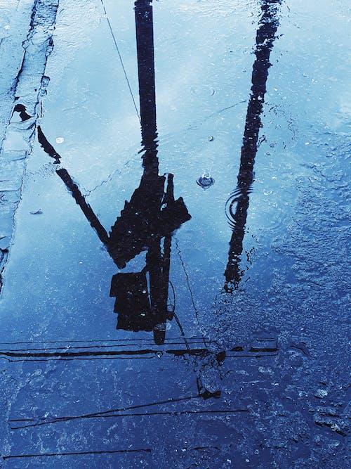 Foto profissional grátis de asfalto, borrifar, calçada, calçamento