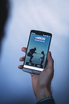 Free stock photo of hand, smartphone, music, app