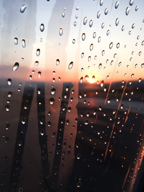 Free stock photo of after the rain, airplane, airplane window, Beautiful sunset