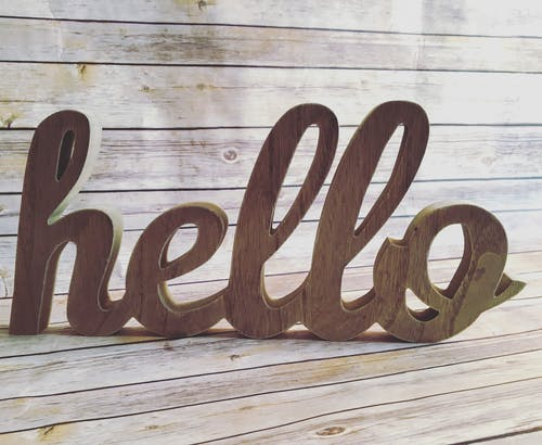 Free stock photo of carved wood, cutout, Hello, introduction