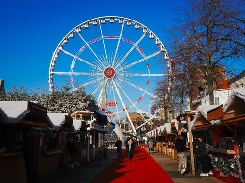 Free stock photo of big wheel, christmas market, market